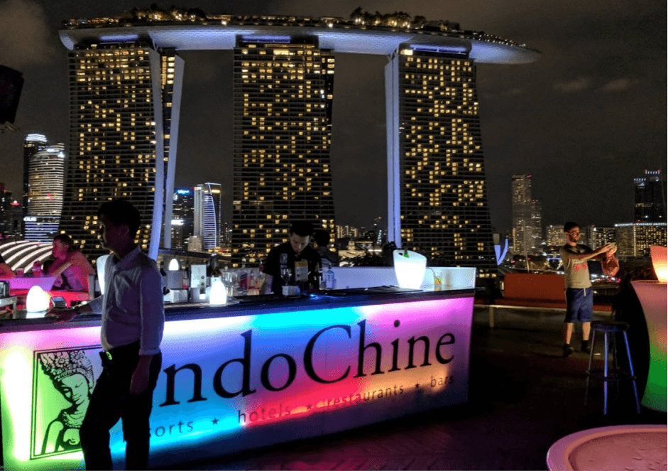 Super Tree Rooftop bar in Singapore