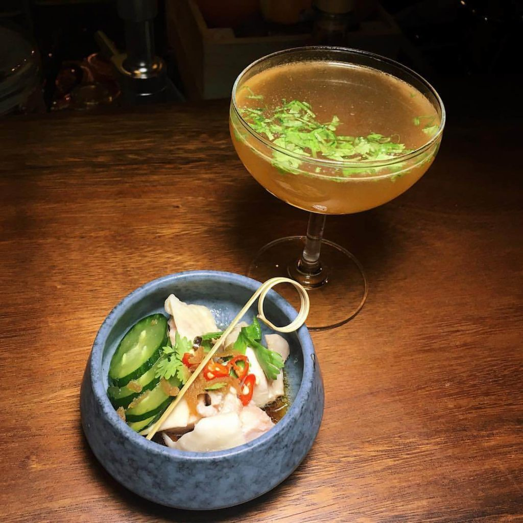 chicken rice cocktail